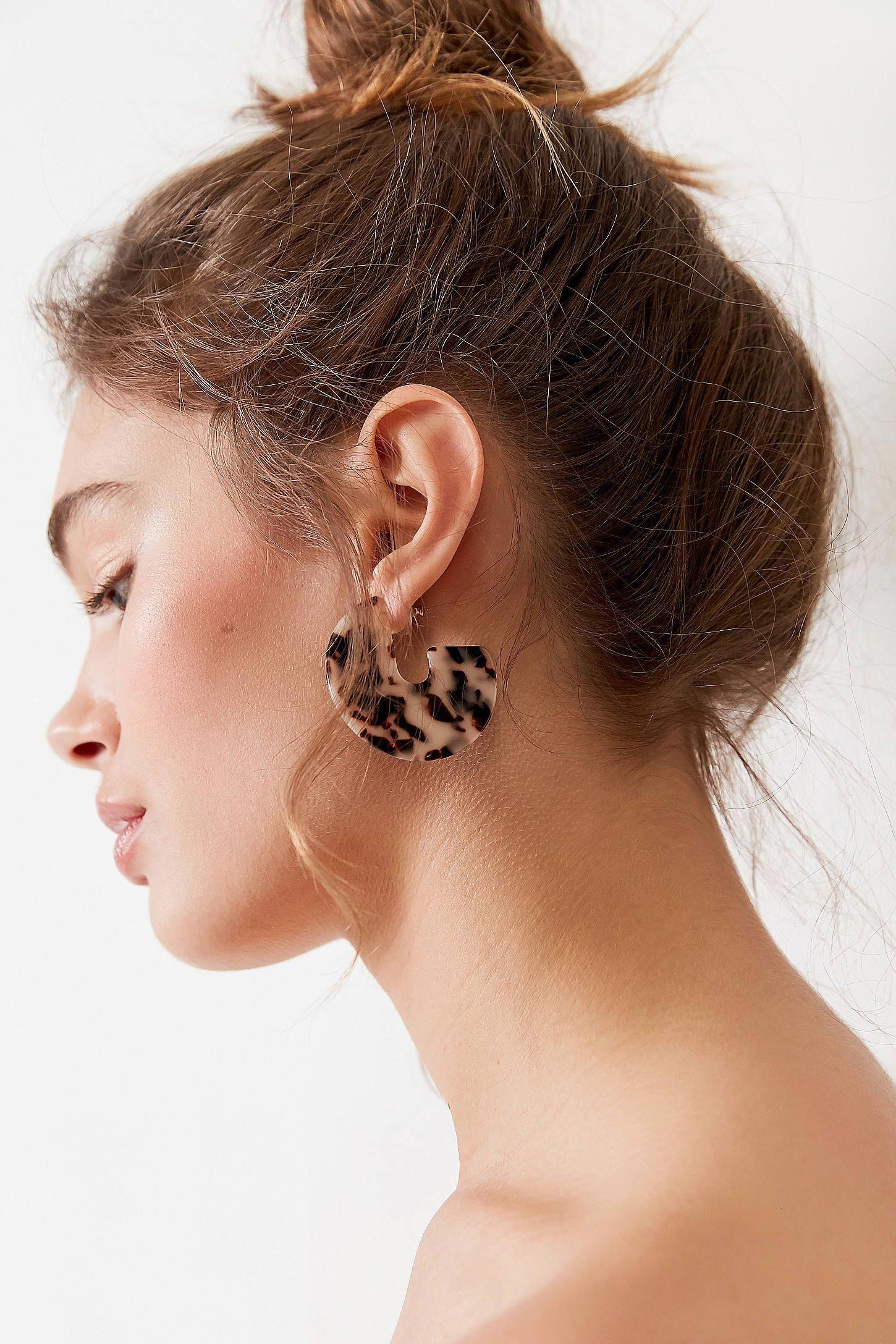 Nose piercing trends 2018  Tortoise Statement Hoop Earring  Urban Outfitters hoopearrings