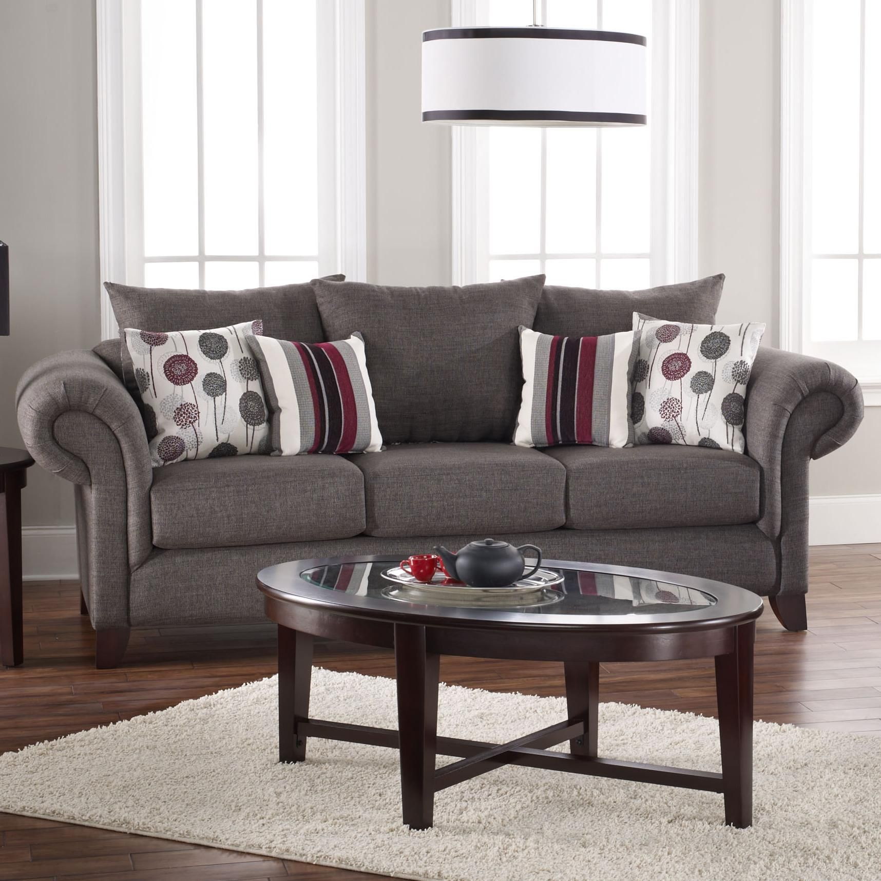Jackson Transitional Sofa With Urban Traditional Look By Coaster