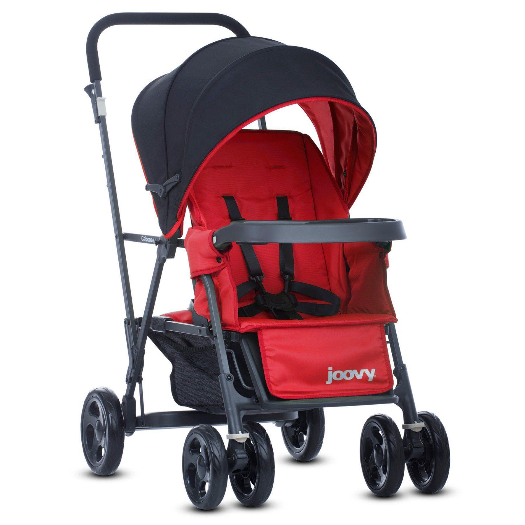 Joovy Caboose Graphite StandOn Tandem Stroller Red