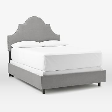Polly Bed King Jiri Navy Silver Nailhead At West Elm Bed