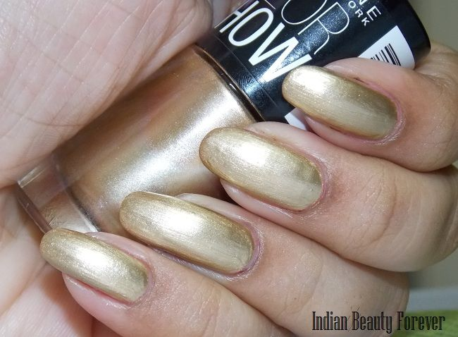 Maybelline Color show nail paint India -Wine & Dine, Bold Gold NOTDs ...