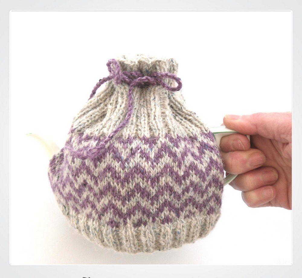 2 Cup Chevron Tea Cosy   Fair isle pattern, Fair isle knitting and ...