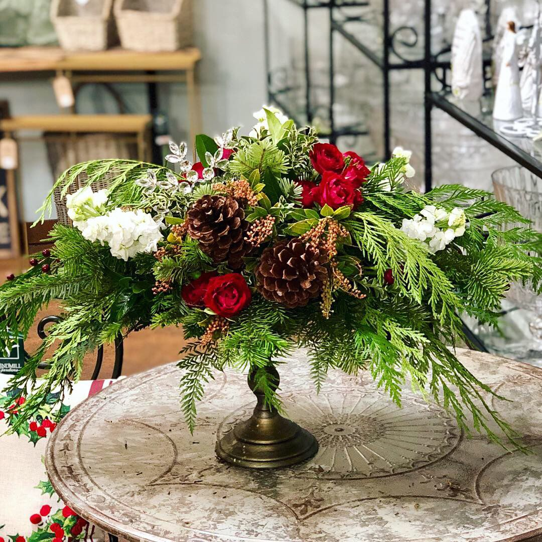 Holiday Compote Design Vintage Wedding Flowers Beach Wedding Decorations Reception Christmas Centerpieces