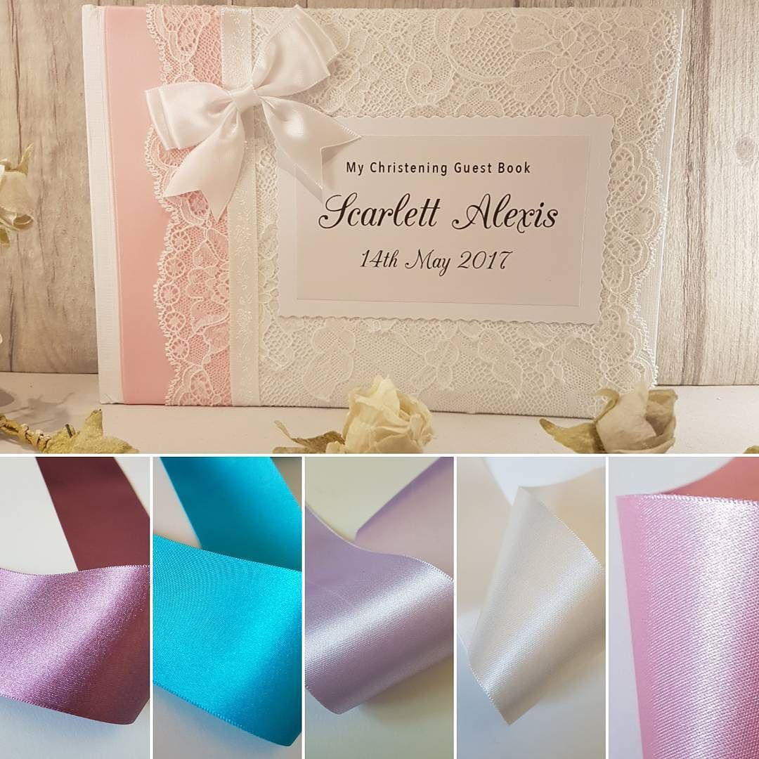 New ribbon colours for our personalised wedding