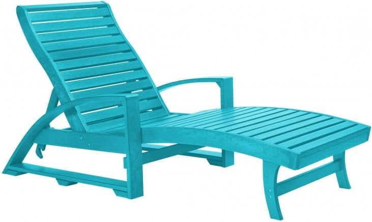 St Tropez Turquoise Chaise Lounge From Cr Plastic L38 09