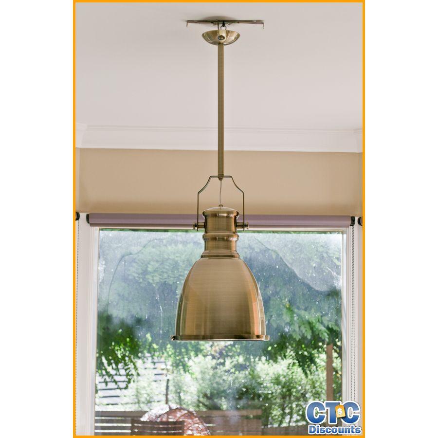 CTC HAMPTON VINTAGE RETRO INDUSTRIAL PROVINCIAL HAMPTONS ERA BRONZE PENDANT LAMP