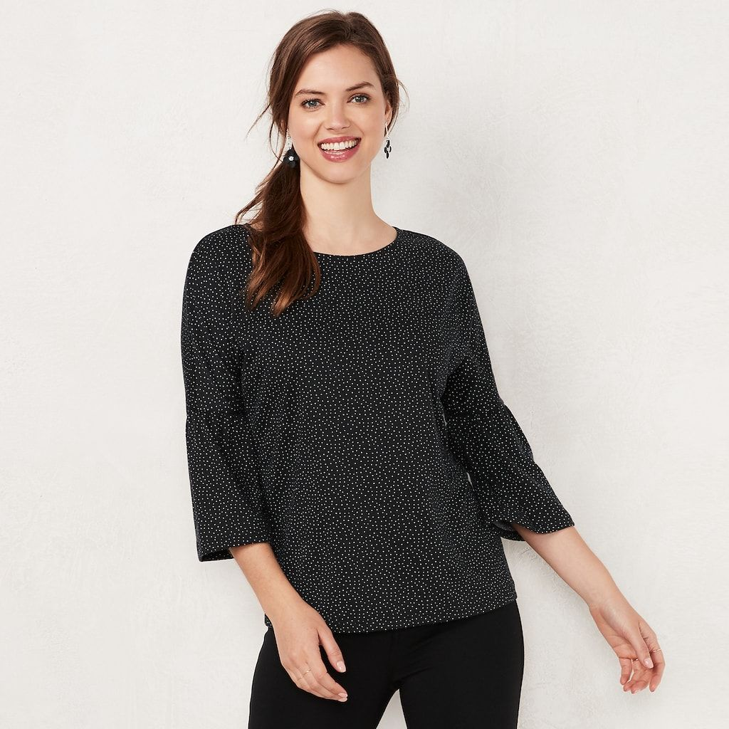 1b1da8edf32821 Women s LC Lauren Conrad Printed Bell Sleeve Top