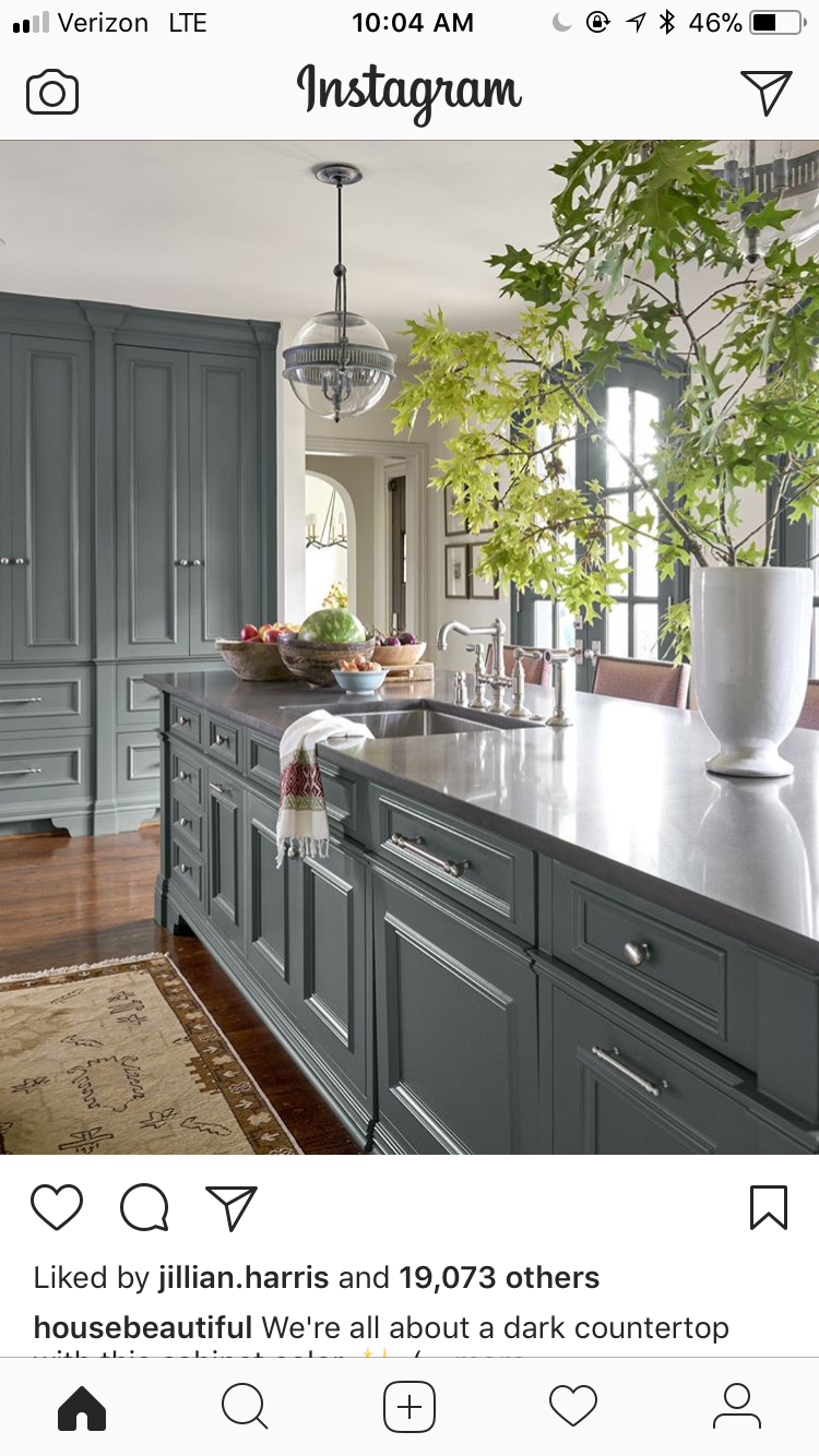 Island color   Distressed kitchen cabinets, Kitchen ...