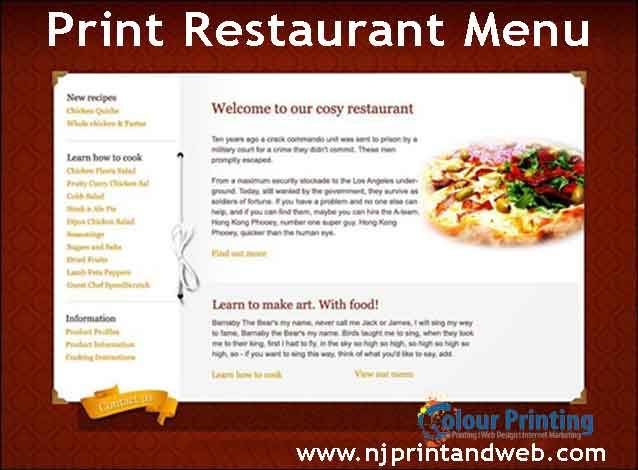 Get Quick Printing Delivery For Your Restaurant Menu In Any Size - Delivery menu template