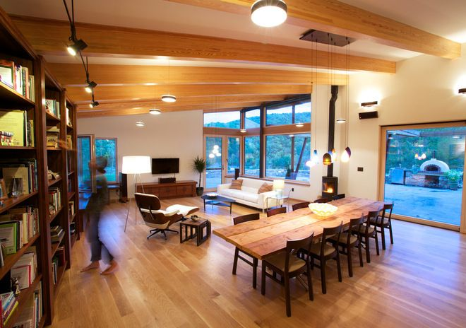 contemporary dining room by Kaplan Thompson Architects