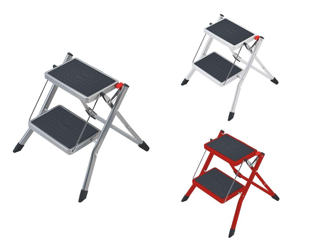 Hailo Mini 2 Stufen Stahl Klapptritt Leiter Tritt Kompakt