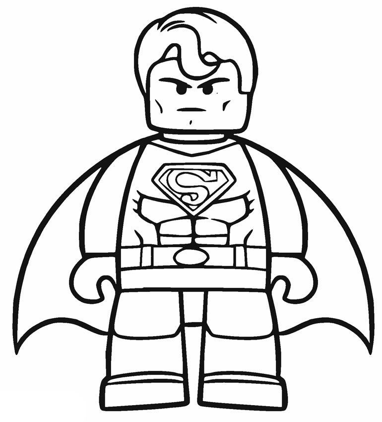 Easy To Color Lego Superman Coloring Pages Superhero Coloring Pages Batman Coloring Pages Lego Movie Coloring Pages