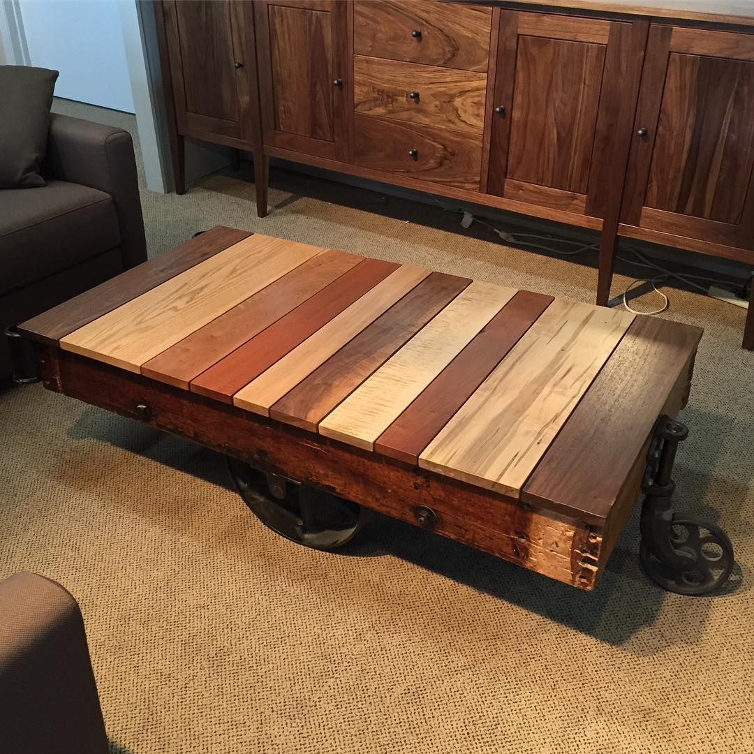 Sale Sale Sale Antique Furniture Cart Coffee Table With Mix Wood Top Now Only 1295 Antiques Industrial Furnitur Coffee Table Cart Coffee Table Mixed Wood