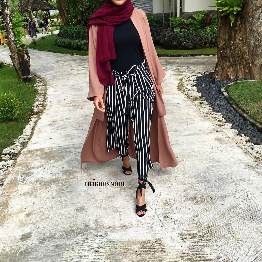 Firdawsnour Hijab Fashion Pinterest Pantalon Ray Tendance Mode Et Les Vetements