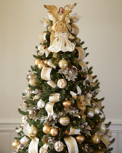 Gold Angel Tree Topper Balsam Hill Gold Christmas Tree Decorations Gold Christmas Decorations Gold Christmas Tree