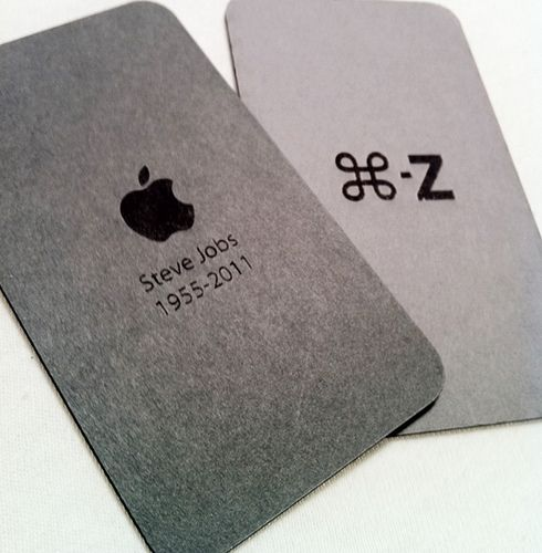 Steve Jobs Tribute Business Card Brand Business Cards