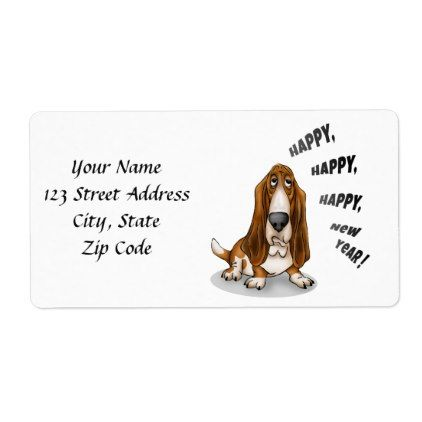 happy happy happy new year label holiday card diy personalize design template cyo cards idea