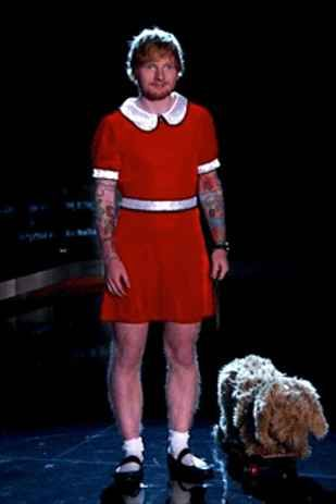 Ed Sheeran Is Little Orphan Annie