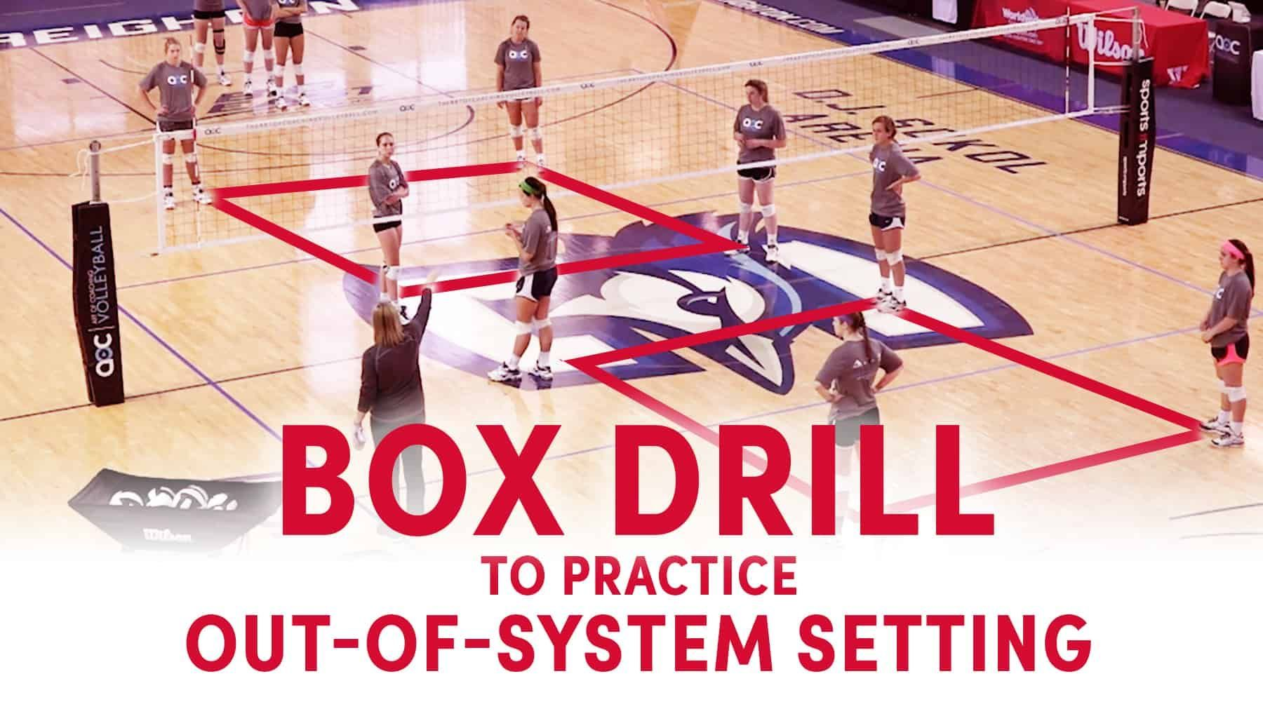 Box Drill To Practice Out Of System Setting The Art Of Coaching Volleyball Coaching Volleyball Volleyball Drills Volleyball Workouts