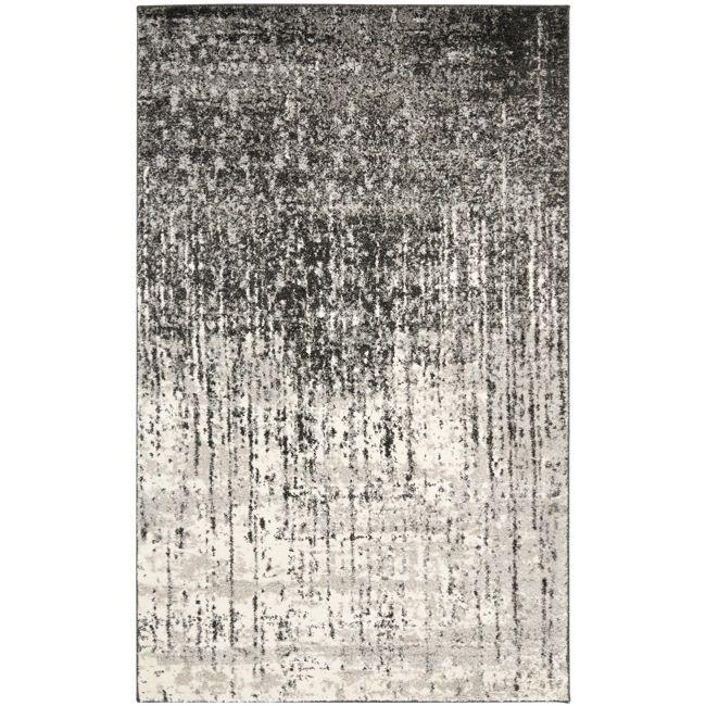 Safavieh Retro Mid-Century Modern Abstract Black/ Light