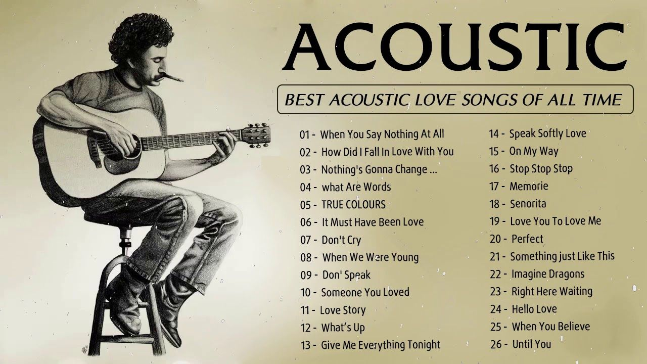Guitar Acoustic Songs 2020 Best Acoustic Cover Of Popular Love Songs O Guitar Acoustic Songs Love Songs Acoustic Song