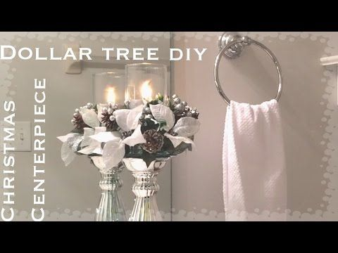 diy dollar tree christmas bling vase - glam home decor centerpiece