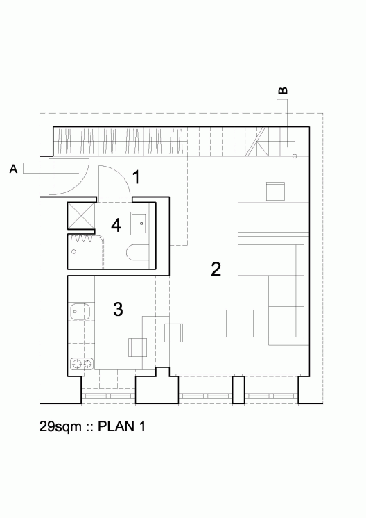 29sqm Ewa Czerny Apartment Layout Apartment Plans Small House Plans