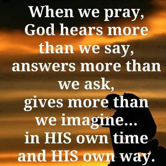 When we pray....
