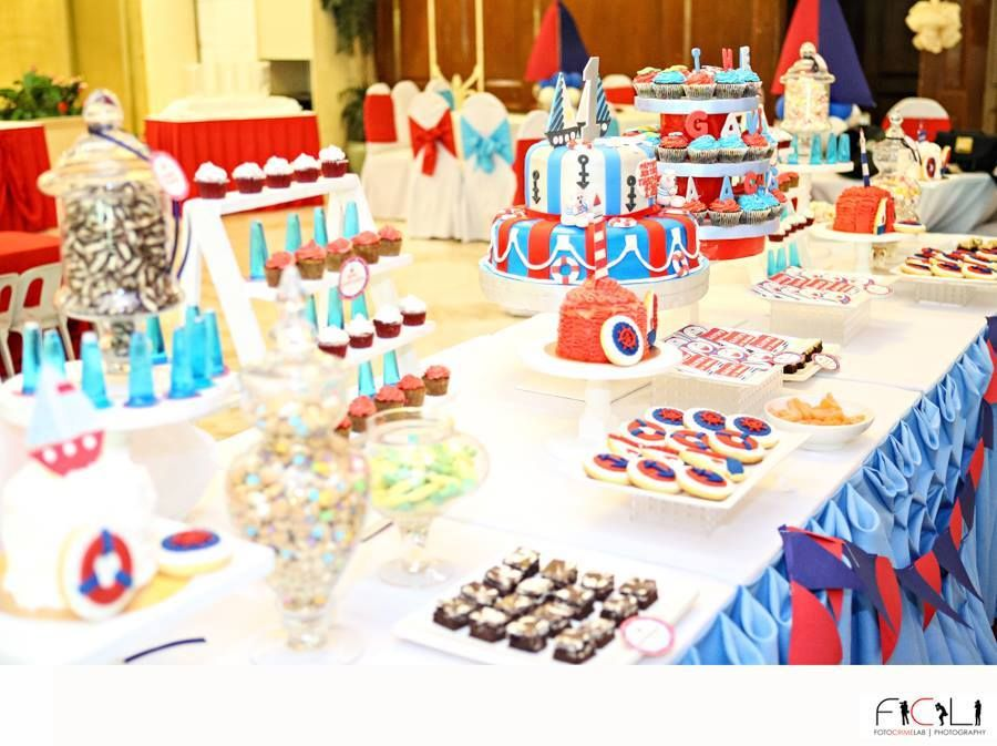 Nautical Themed Birthday Party Supplies Part - 45: Huge Nautical Theme Birthday Party ~ Featured Party | Party Ideas By  Seshalyn