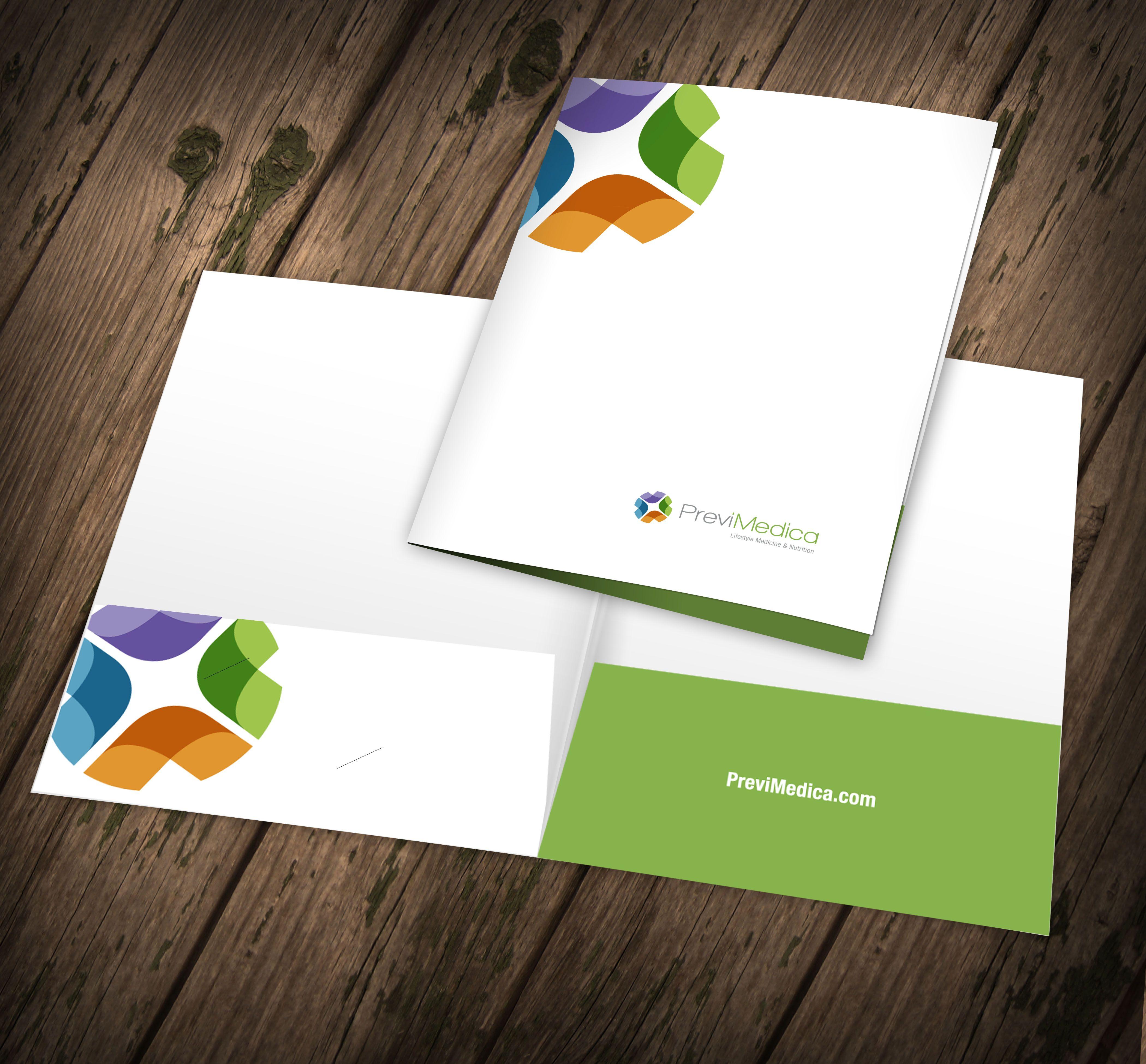 Folder Design for Client PreviMedica | Collateral Design | Pinterest ...