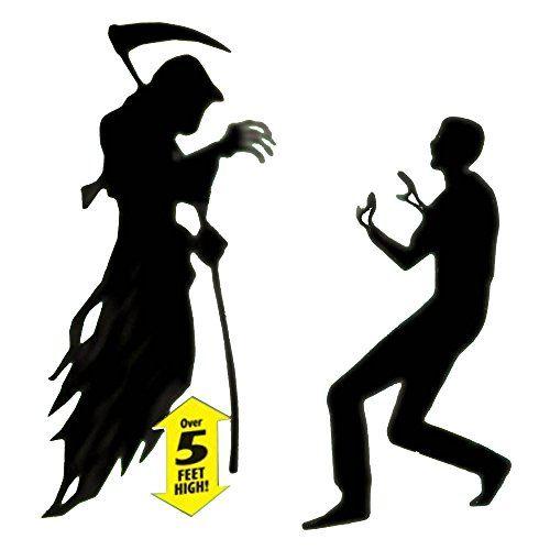 Scary Halloween Horror Fear The Reaper Scene Setter Addon Kit Party - halloween scene setters decorations