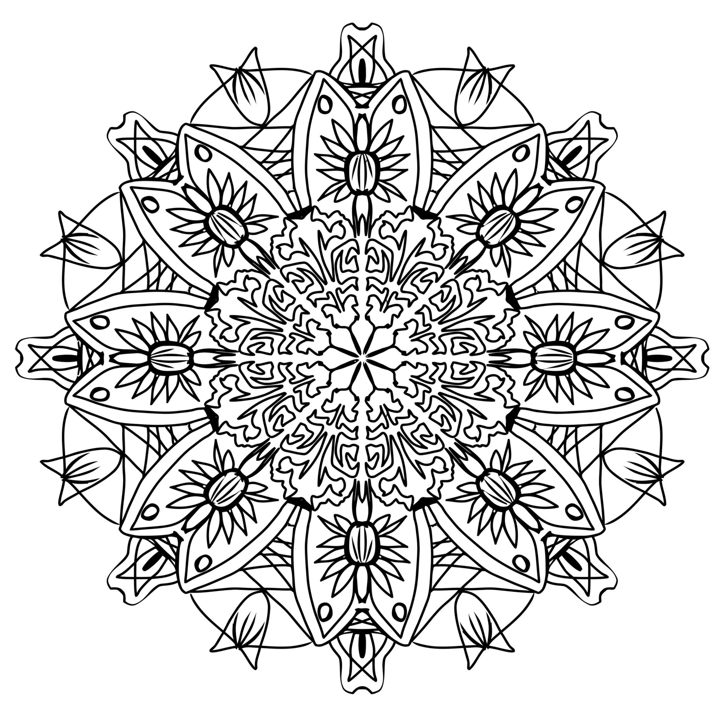 Kostenlose Mandalavorlagen herunterladen. #Mandala #Vorlage ...
