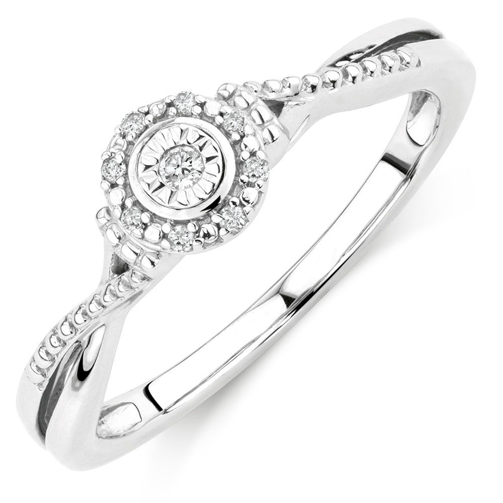 Michael Hill 1/20 Carat TW Diamond Promise Ring sterling silver ...