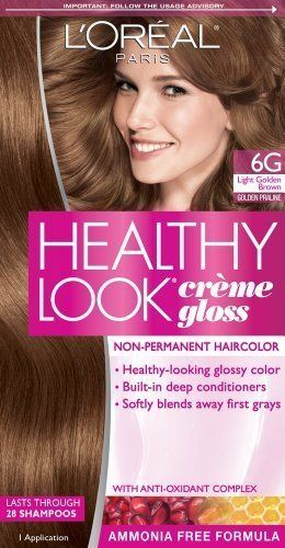 L Oreal Paris Healthy Look Creme Gloss Color Light Golden Brown Golden Praline 6g Pack Of 3 More Info Could Be Fo Hair Color Loreal Paris Hair Dye Colors