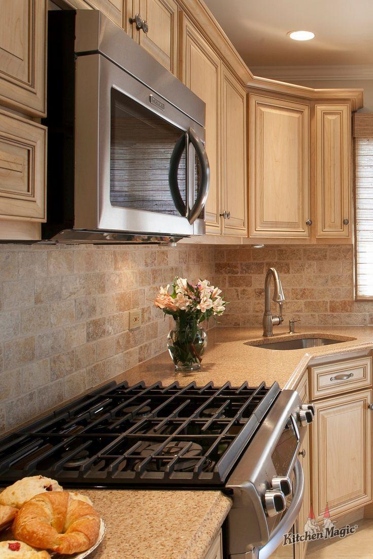 Tumbled Marble Tile Is Fantastic For Backsplashes It Adds Both