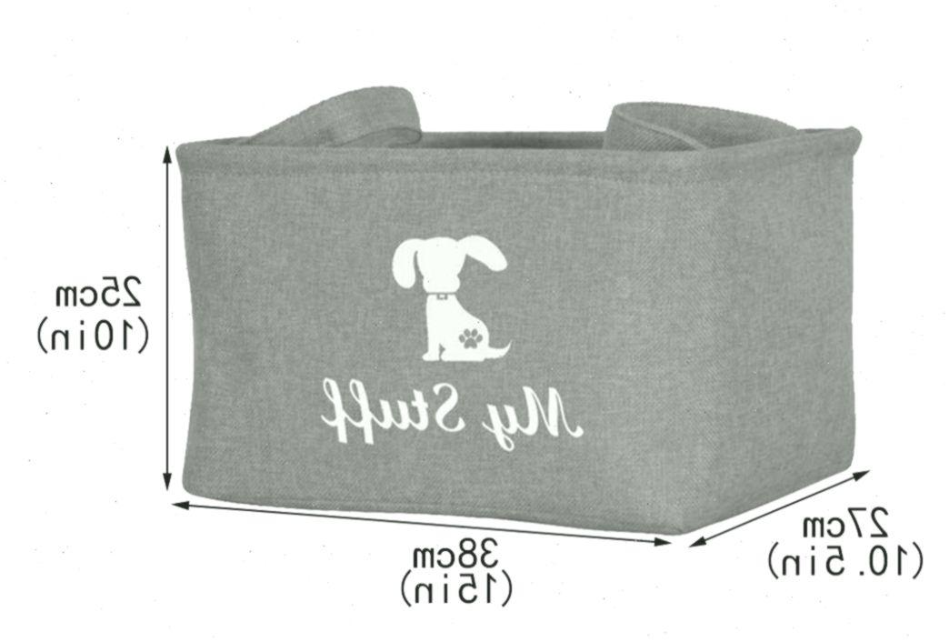 Geyecete Canvas Dog Toy Basket Basket For Dog Toys Blanket Clothes
