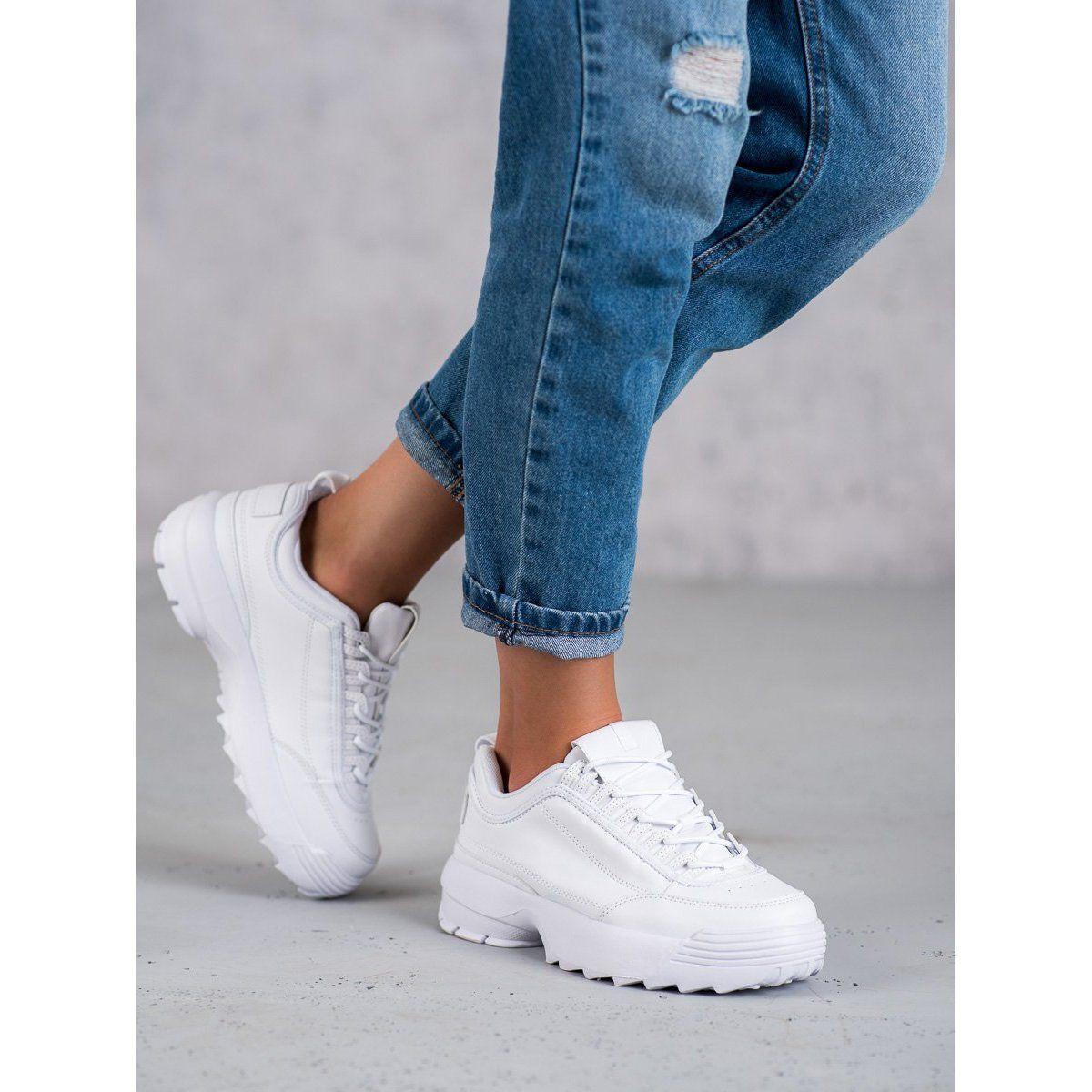 Shelovet Modne Buty Sportowe Biale Fashion White Sneaker Adidas Stan Smith