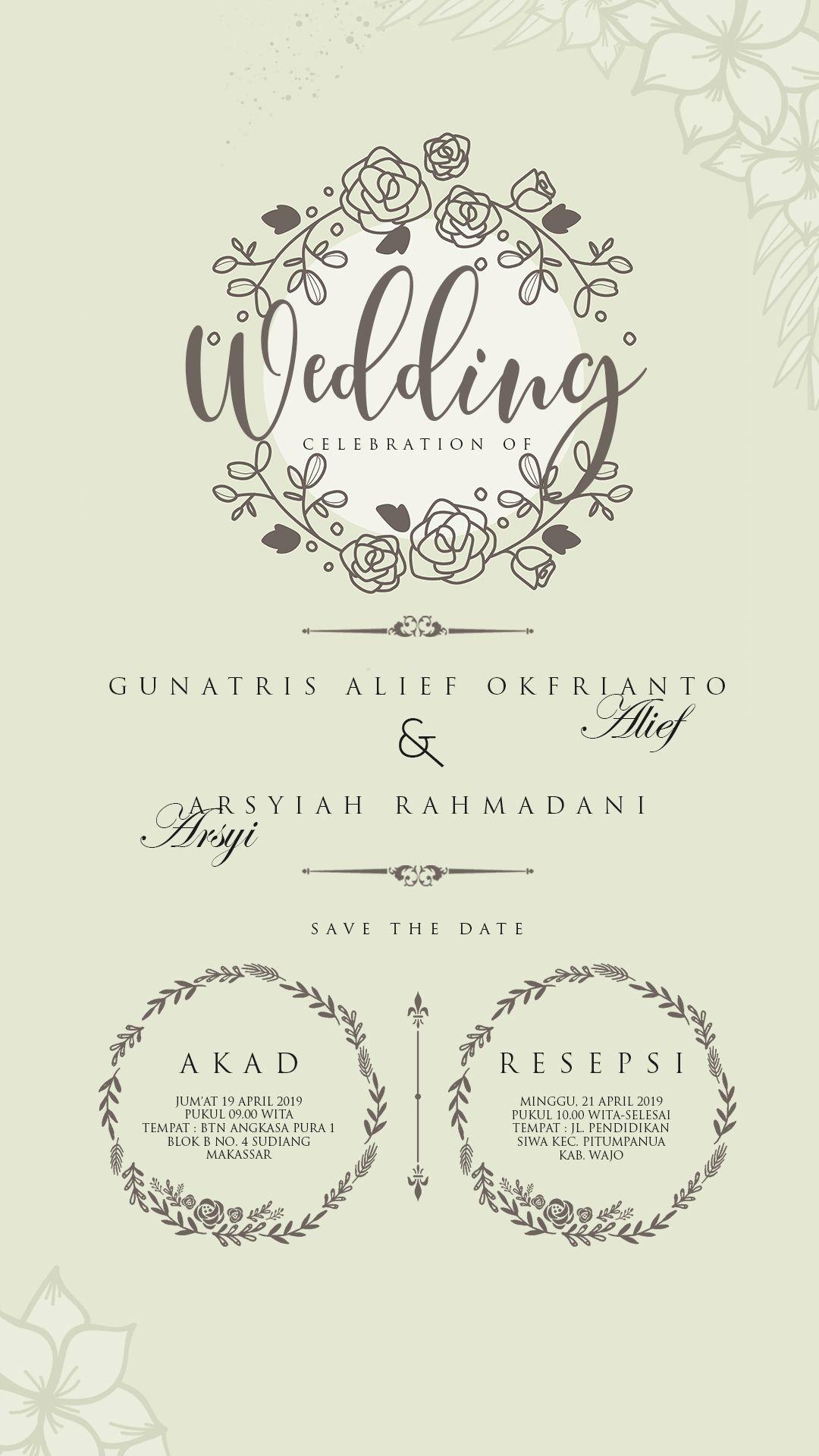 Wedding Invitation Sample Kata Kata Undangan Pernikahan Undangan Pernikahan Desain Undangan Perkawinan