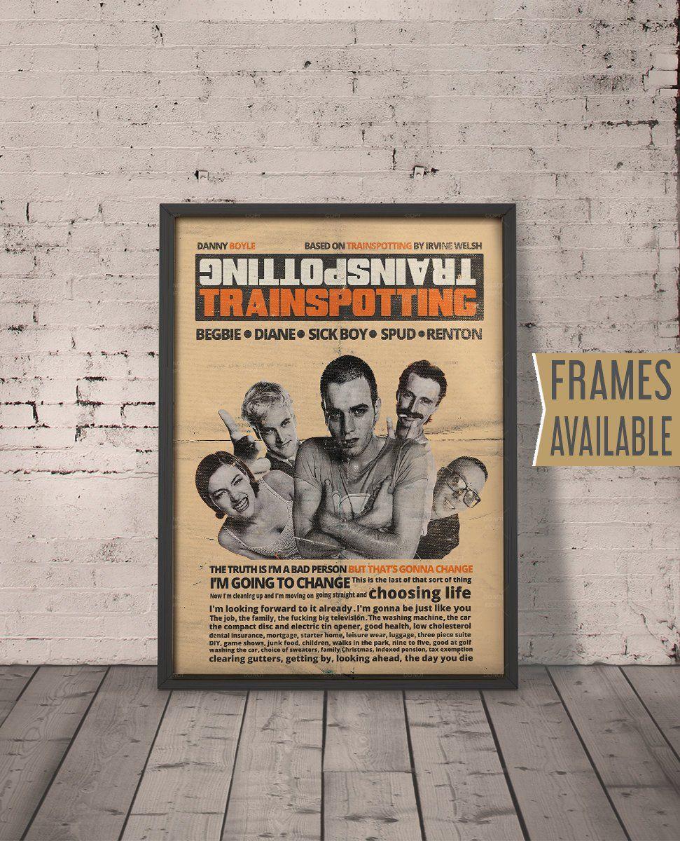 TRAINSPOTTING Poster *** Frames Available*** Alternative