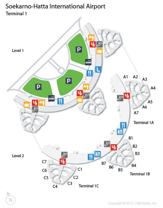 (CGK) SoekarnoHatta International Airport Terminal Map