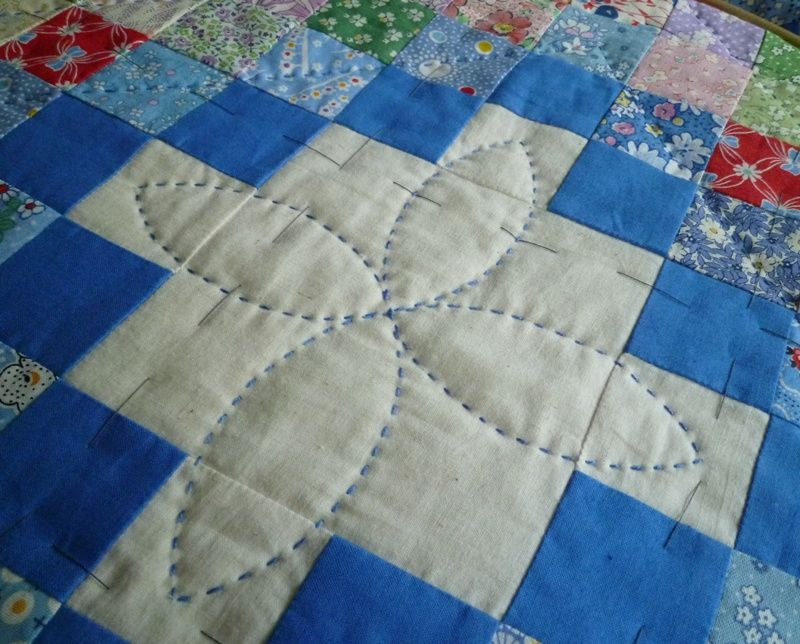 how to hand quilt a large quilt