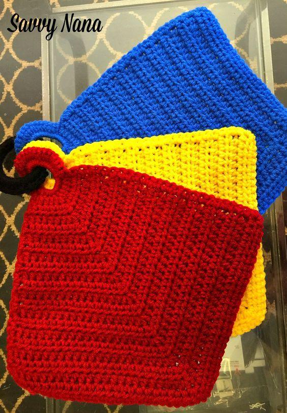 Crocheted Kitchen Hot Pads Free Crochet Pattern Crochet Crochet