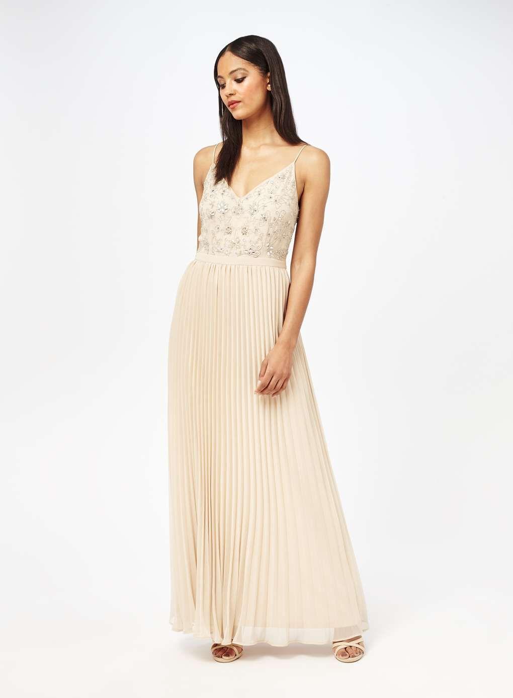 Embellished Pleat Maxi Dress - View All - Dress Shop - Miss Selfridge
