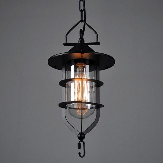Winsoon vintage industrial metal ceiling pendant light cage glass winsoon vintage industrial metal ceiling pendant light cage glass shade chandelier lamp aloadofball Images