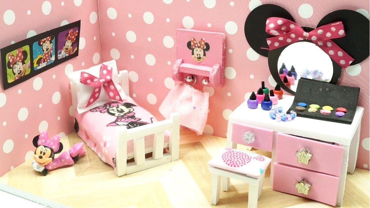 Diy Miniature Dollhouse Disney Minnie Mouse Room Not A Kit