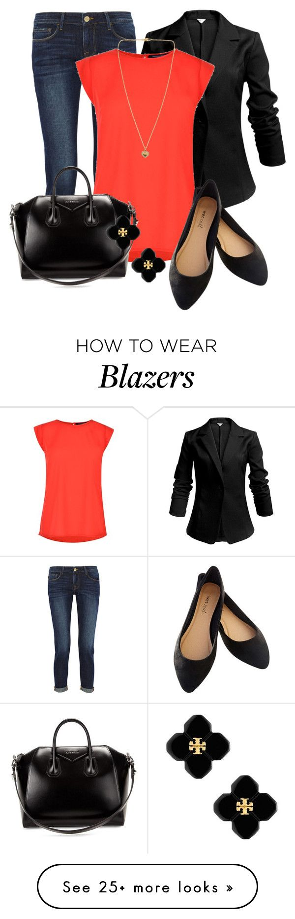 """Professional Wardrobe for All Ages Outfit: 54"" by vanessa-bohlmann on Polyvore featuring Frame Denim, French Connection, Wet Seal, Givenchy, Tory Burch and Michael Kors"