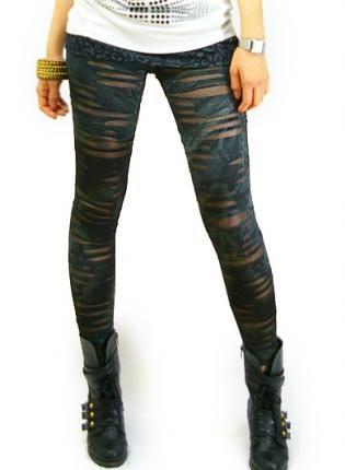 Vintage stone washing leggings [Leggings,Tights,Bottoms,Pant,  Bottoms, Leggings  Tights  Pants  Legin  Fashion leggings, Chic