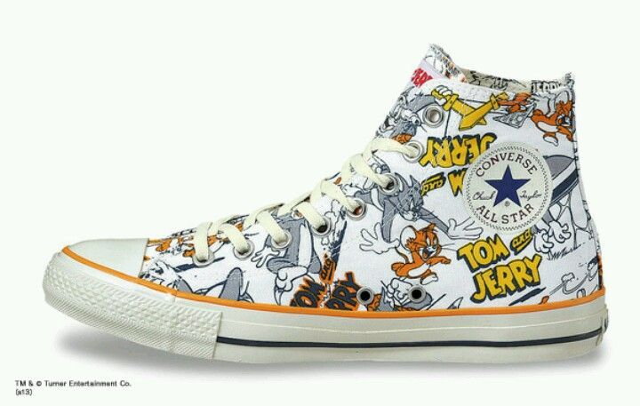 CONVERSE Chuck Taylor All Star TOM AND JERRY cartoon hand painted shoes | eBay