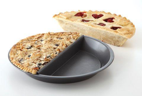 Split decision pie pan! No problem make it half \u0026 half!  sc 1 st  Pinterest & Split decision pie pan! No problem make it half \u0026 half! | For the ...