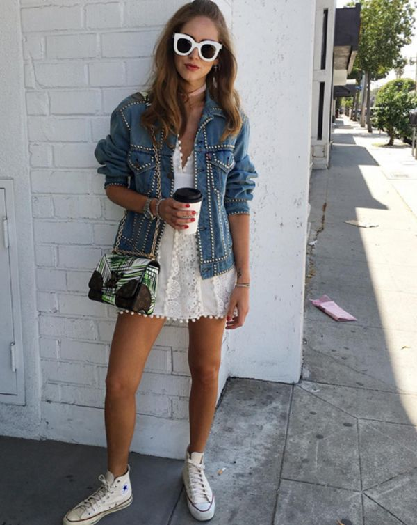 Noroeste Herméticamente Doctrina  How to style up your Converse Chuck Taylor high-top sneakers x summer -  LaiaMagazine   High top sneakers outfit, High tops outfit, White high top  converse outfit